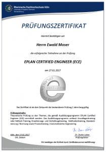 EPLAN Certified Engineer Zertifikat - ewaldmoser.de